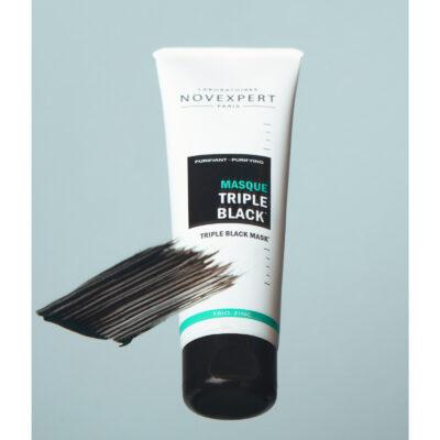 Novexpert Trio Zinc Masque Triple Black avec texture