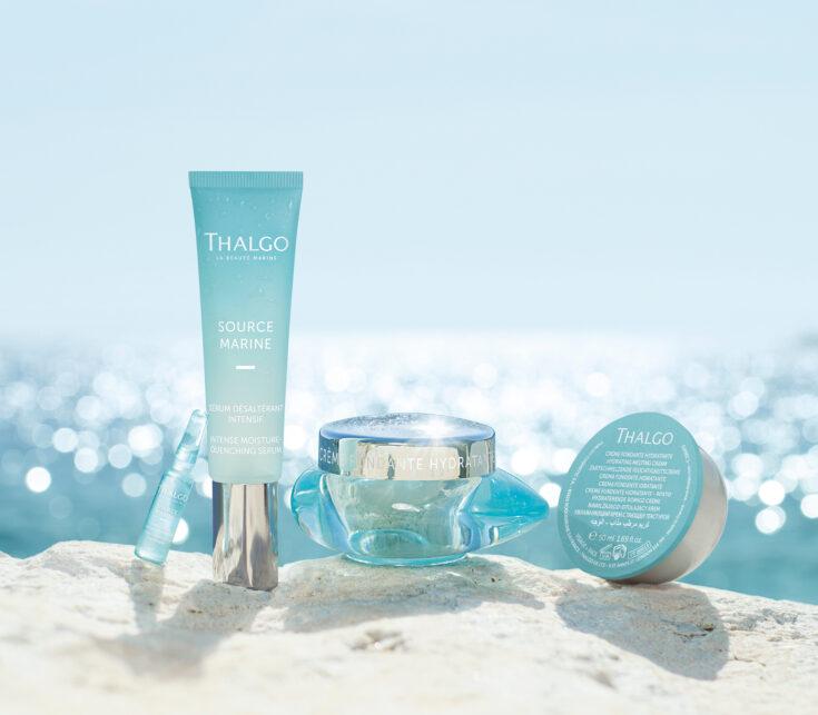 Source Marine la nouvelle gamme de Thalgo qui apporte de l'hydratation aux peaux déshydratées